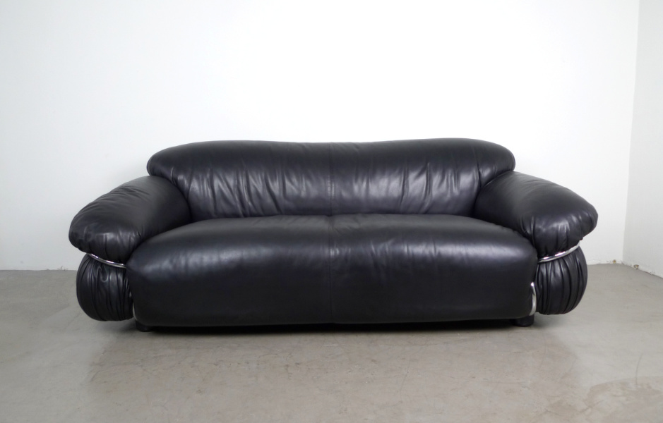 Ledersofa von Gianfranco Frattini